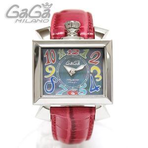 ガガミラノ GaGa Milano 腕時計 NAPOLEONE ナポレオーネ 40MM マルチ/レッドレザー レディース 6030.2|ebsya
