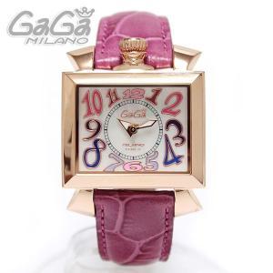 ガガミラノ GaGa Milano NAPOLEONE ナポレオーネ 腕時計 40MM 18K PVD ホワイトシェル/ピンクレザー 6031.1 レディース|ebsya