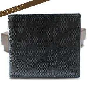 グッチ GUCCI 二つ折財布 財布 メンズ GGインプリメ ブラック 224122 FU49N 1000|ebsya
