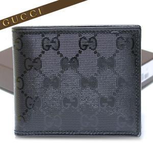 グッチ GUCCI 財布 インプリメ 二つ折り財布 小銭入れなし ブラック  224123 FU49N 1000|ebsya