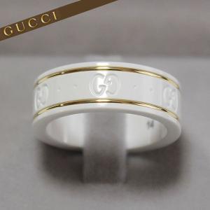グッチ GUCCI アイコン リング 指輪 スリムリング イエローゴールド ホワイトジルコニアパウダー 325964 J85V5 8062|ebsya