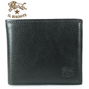 イルビゾンテ IL BISONTE 折財布 フラップ C0817 P 135 BLACK ブラック|ebsya