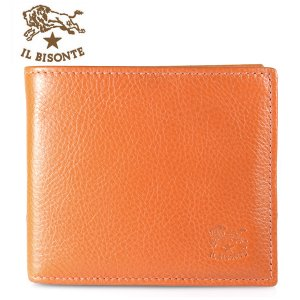 イルビゾンテ IL BISONTE 折財布 フラップ C0817 P 166 ORANGE オレンジ|ebsya