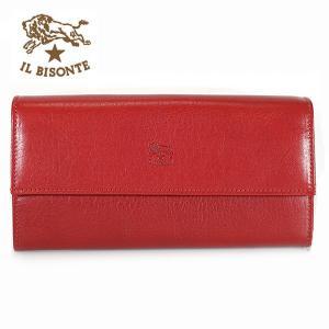 イルビゾンテ IL BISONTE 長財布 財布 レザー メンズ レディース C0918 245 レッド ROSSO|ebsya