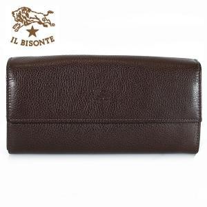 イルビゾンテ IL BISONTE 長財布 財布 レザー メンズ レディース C0918 455 ダークブラウン MOKA|ebsya