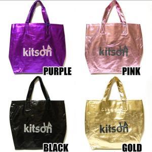 キットソン kitson LA Glitter Metallic グリッタートートバッグ パープル/ピンク/ゴールド/ブラック|ebsya