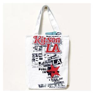 ■キットソン KITSON LA エコトートバッグ エコバッグ ホワイト KHB0147|ebsya