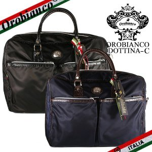 オロビアンコ ビジネスバッグ ブリーフケース メンズ ドッテナ  Orobianco DOTTINA-E ナイロン ブラック ブルー|ebsya