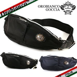 オロビアンコ ボディバッグ メンズ ゴッチャ Orobianco GOCCIA ナイロン ブラック ブルー|ebsya