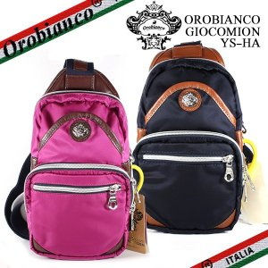 オロビアンコ ボディバッグ レディース ジャコミオン Orobianco GIOCOMION ナイロン ブルー ピンク|ebsya
