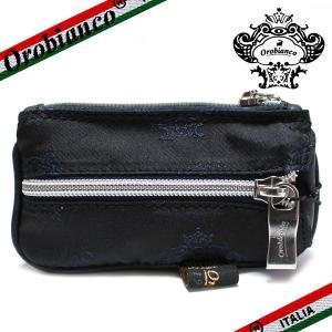 オロビアンコ ポルターレ  6連キーケース  コインポケット付き Orobianco PORTALE 11-N ナイロン/レザー ネイビー|ebsya