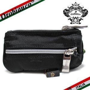 オロビアンコ ポルターレ  6連キーケース  コインポケット付き Orobianco PORTALE 11-N ナイロン/レザー ブラック|ebsya
