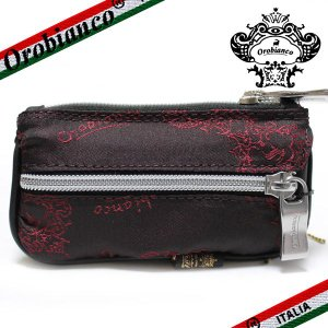オロビアンコ ポルターレ  6連キーケース  コインポケット付き Orobianco PORTALE 11-N ナイロン/レザー レッド|ebsya