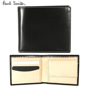 ポールスミス 二つ折り財布 財布 メンズ ブラック Paul Smith  ANXA 1033 W742 B|ebsya