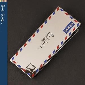 ポールスミス マネークリップ シルバー レター AIR MAIL エアーメール Paul Smith AUXC MONE LETTE 82|ebsya