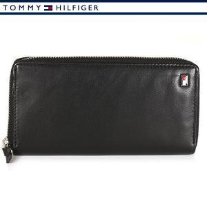トミーヒルフィガー 財布 ラウンドファスナー 長財布 メンズ ブラック TOMMY HILFIGER 31TL13X009-001|ebsya
