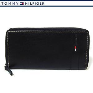 トミーヒルフィガー 財布 ラウンドファスナー 長財布 メンズ ブラック TOMMY HILFIGER 31TL13X023-001|ebsya