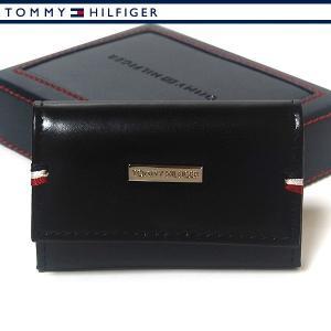 トミーヒルフィガー 6連キーケース ブラック  メンズ レザー 本革 TOMMY HILFIGER 31TL17X011-001|ebsya