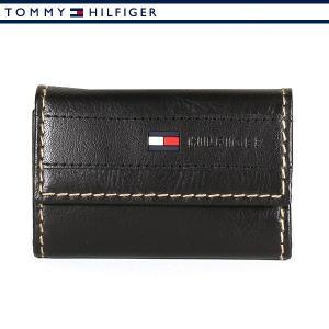 トミーヒルフィガー 6連キーケース ブラック  メンズ レザー 本革 TOMMY HILFIGER 31TL17X014-001|ebsya