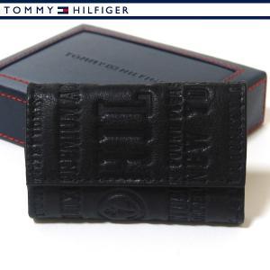 トミーヒルフィガー 6連キーケース ブラック  メンズ レザー 本革 TOMMY HILFIGER 31TL17X016-001|ebsya