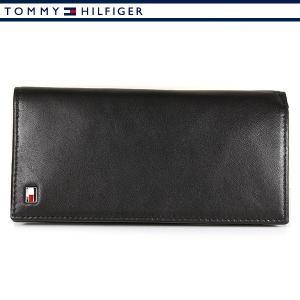 トミーヒルフィガー 財布 メンズ レザー 本革 長財布 ブラック TOMMY HILFIGER 31TL19X008-001|ebsya