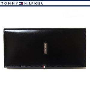 トミーヒルフィガー 財布 メンズ レザー 本革 長財布 ブラック TOMMY HILFIGER 31TL19X012-001|ebsya