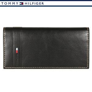 トミーヒルフィガー 財布 メンズ レザー 本革 長財布 ブラック TOMMY HILFIGER 31TL19X016-001|ebsya