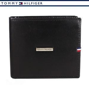 トミーヒルフィガー 財布 二つ折り財布 メンズ レザー ブラック TOMMY HILFIGER 31TL25X012-001|ebsya