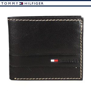 トミーヒルフィガー 財布 二つ折り財布 メンズ レザー ブラック TOMMY HILFIGER 31TL25X019-001|ebsya