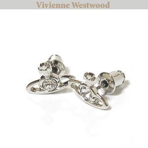 ヴィヴィアンウエストウッド Vivienne Westwood ピアス ナノソリティアピアス シルバー クリスタル Nano Solitaire Earrings Crystal 0598|ebsya
