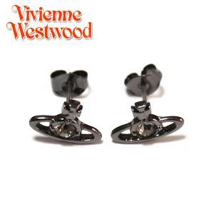 ヴィヴィアンウエストウッド Vivienne Westwood ピアス ナノソリティアピアス ガンメタ クリスタル Nano Solitaire Earrings Crystal 0740|ebsya
