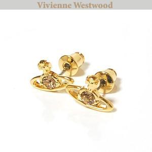 ヴィヴィアンウエストウッド Vivienne Westwood ピアス ナノソリティアピアス ゴールド クリスタル Nano Solitaire Earrings Crystal 0741|ebsya
