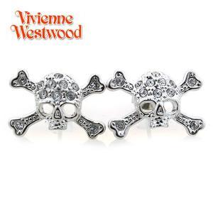 ヴィヴィアンウエストウッド Vivienne Westwood ピアス ディアマンテ スカル シルバー 0742|ebsya