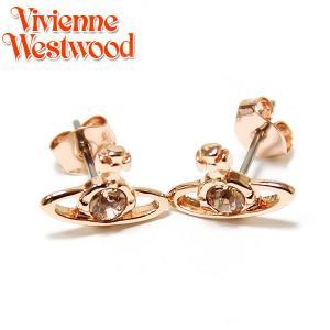 ヴィヴィアンウエストウッド Vivienne Westwood ナノソリティアピアス コパー ピンクゴールド クリスタル Nano Solitaire Earrings Crystal  0976|ebsya