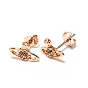 ヴィヴィアンウエストウッド Vivienne Westwood ナノソリティアピアス コパー ピンクゴールド クリスタル Nano Solitaire Earrings Crystal  0976|ebsya|02