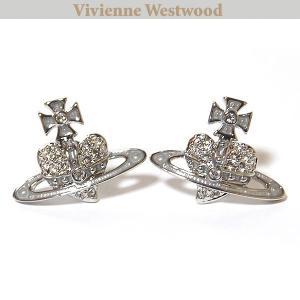 ヴィヴィアンウエストウッド Vivienne Westwood  ピアス リバースハートピアス クリスタル 0983|ebsya