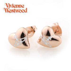 ヴィヴィアンウエストウッド Vivienne Westwood ピアス ヴィヴィアン Vivienne ニューハートスタッドピアス ピンクゴールド×ホワイト 2447|ebsya