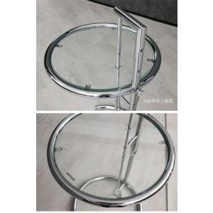 サイドテーブル ガラステーブル アイリーングレイ デザイナーズ リプロダクト E1027 4段階調節|ec-furniture|05