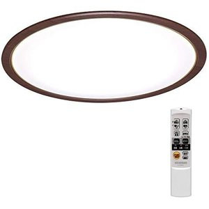 アイリスオーヤマ LED シーリングライト 調光 調色 タイプ ~8畳 ウォールナット CL8DL-5.0WF-Mの画像