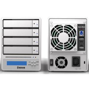 パソコン周辺機器 STARDOM スターダム SR4 eSATA FireWire 800 USB3.0 RAID0 RAID5 JBOD SR4-WBS3J の商品画像
