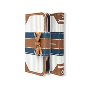 iPhoneSE / iPhone5s ケース Mr.H ミスター・エイチ iPhone SE / 5s / 5 Marine Cruise Diary ブラウン M2394i5 ネコポス不可|ec-kitcut