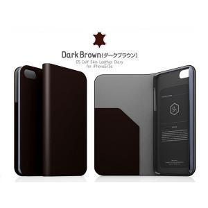 iPhoneSE / iPhone5s ケース SLG Design エスエルジー デザイン iPhone SE / 5s / 5 D5 Calf Skin Leather Diary ダークブラウン SD3267i5S ネコポス送料無料|ec-kitcut