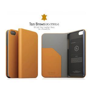 iPhoneSE / iPhone5s ケース SLG Design エスエルジー デザイン iPhone SE / 5s / 5 D5 Calf Skin Leather Diary タンブラウン SD3268i5S ネコポス送料無料|ec-kitcut