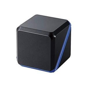 スピーカー エレコム ELECOM 3.5φモバイルスピーカー メタルブラックxブルー ASP-SMP220BBK ネコポス不可 ec-kitcut