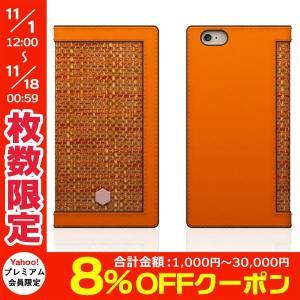 iPhone6 Plus iPhone6s Plus ケース  エスエルジー デザイン・ iPhone 6 Plus / 6s Plus D5 Edition Calf Skin Leather Diary オレンジ ネコポス送料無料|ec-kitcut