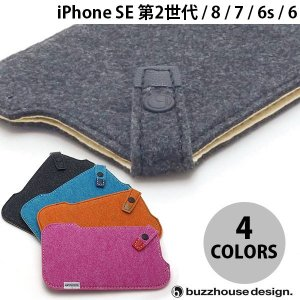 iPhone8 / iPhone7 / iPhone6s / iPhone6 ケース buzzhouse design iPhone 8 / 7 / 6s / 6 ハンドメイドフェルトケース  ネコポス送料無料|ec-kitcut