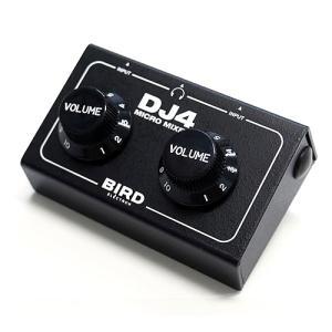 オーディオインターフェイス Bird Electron バード電子 マイクロミキサー DJ4 超小型 サウンドミキサー ブラック DJ4B2 ネコポス不可|ec-kitcut