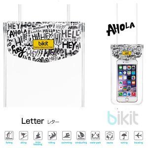 iPhone汎用 ケース bikit  ビキット スマートフォン用ファッション防水ポーチ カジュアル レター BK5765 ネコポス可|ec-kitcut