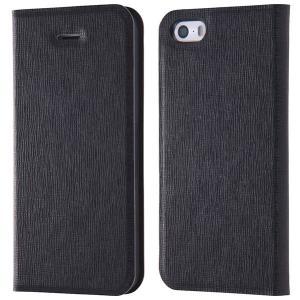 iPhoneSE / iPhone5s ケース Ray Out レイアウト iPhone SE / 5s / 5 手帳型ケース マグネットタイプ 十字紋ブラック RT-P11SLC3/JB ネコポス送料無料|ec-kitcut