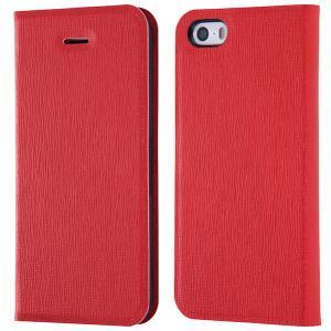 iPhoneSE / iPhone5s ケース Ray Out レイアウト iPhone SE / 5s / 5 手帳型ケース マグネットタイプ 十字紋レッド RT-P11SLC3/JR ネコポス送料無料|ec-kitcut